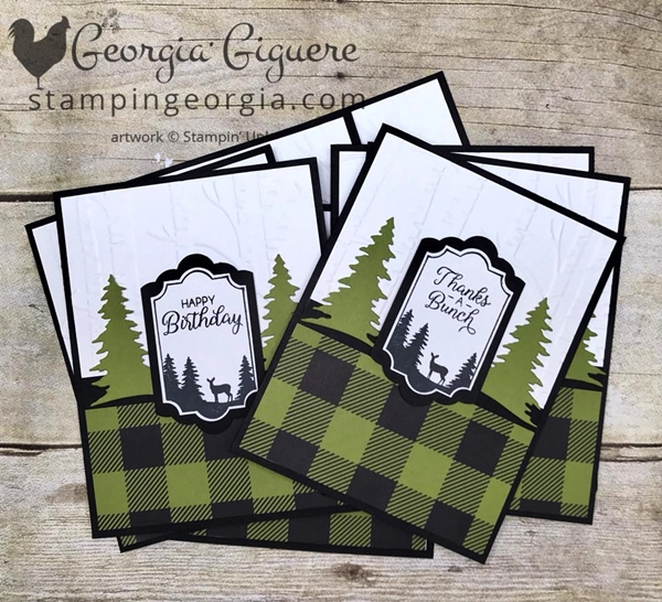 Make this masculine birthday card by altering your Merry Little Labels stamp! Versatile is good! Details on my blog . . . www.stampingeorgia.com #merrylittlelabelsbundle #merrylittlelabels #everydaylabelpunch #masculinebirthdaycard #merrylittlechristmasdesignerseriespaper #deercard