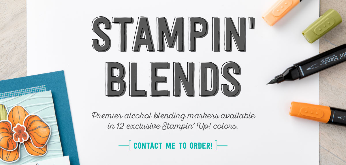 Stampin' Blends are available November 1st! Discover how easy and beautiful coloring can be with these new alcohol markers from Stampin' Up! SHOP at www.georgia.stampinup.net #stampinblends #blends #alcoholmarkers