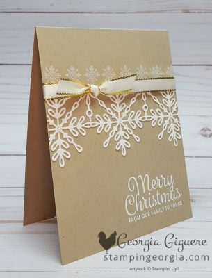 Simple Elegance with Snowflake Sentiments