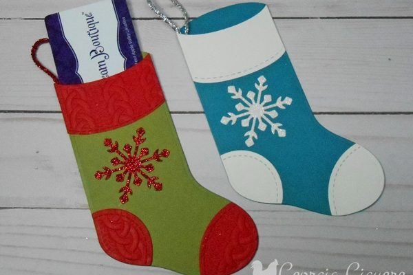 Adorable Trim Your Stocking Die Gift Card Holder