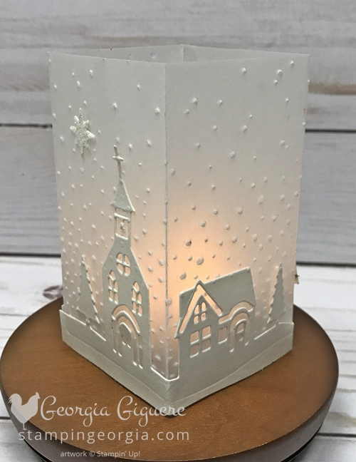 Diy mini vellum luminary stampin with georgia diy luminary made with cardstock vellum and hometown greetings edgelits great as a quick and m4hsunfo