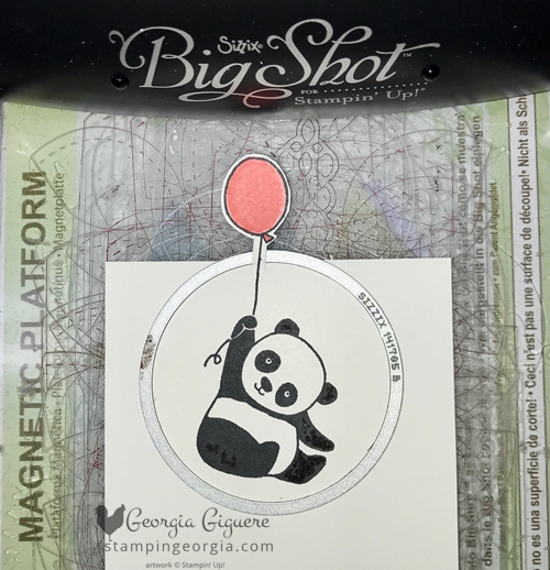Kicking off Sale-a-bration 2018 with a Party Pandas card! Features the FREE stamp set and the Pick A Pattern Designer Series Paper. Check out this great cutting tip for framelits! Complete details at www.stampingeorgia.com