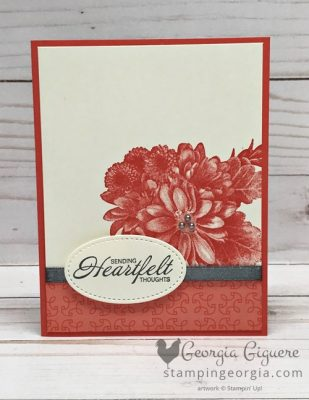 Heartfelt Blooms Card . . . Simple Meets Beauty