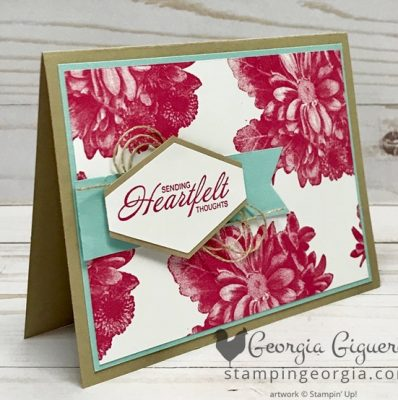 Simple Heartfelt Blooms Card