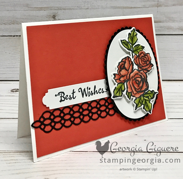 Petal Palette card features the Petal Palette Bundle (stamps plus Petals & More Thinlits Dies). Stampin' Blends are perfect for adding color to this easy-to-use set! Complete details on my blog . . . www.stampingeorgia.com SHOP: www.georgia.stampinup.net #petalpalettebundle