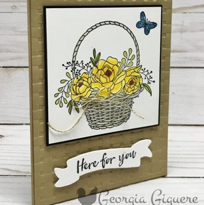 Blossoming Basket Card . . . Ready for Spring!