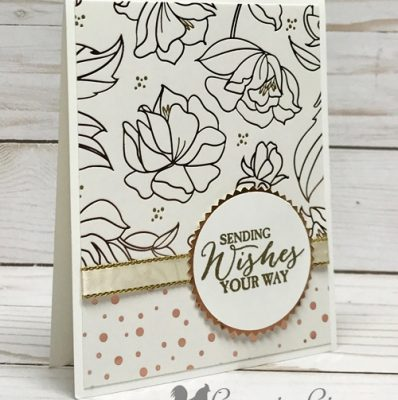 Springtime Foils Card . . . So Easy So Elegant