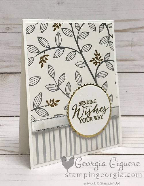 Springtime Foils card features . . . you guessed it, the Springtime Foils Specialty Designer Series Paper, available for FREE for a limited time! Details on my blog . . . www.stampingeorgia.com #springtimefoils #diycardidea #saleabration2018