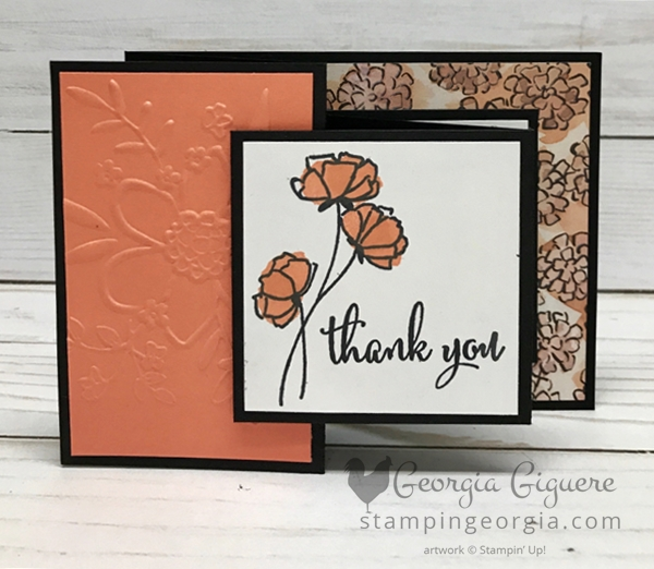 Love What You Do Thank You Card made with the special early release Share What You Love Suite bundle available only in May! More details on my blog: www.stampingeorgia.com Shop: www.georgia.stampinup.net #sharewhatyoulovebundle #lovewhatyoudostamps