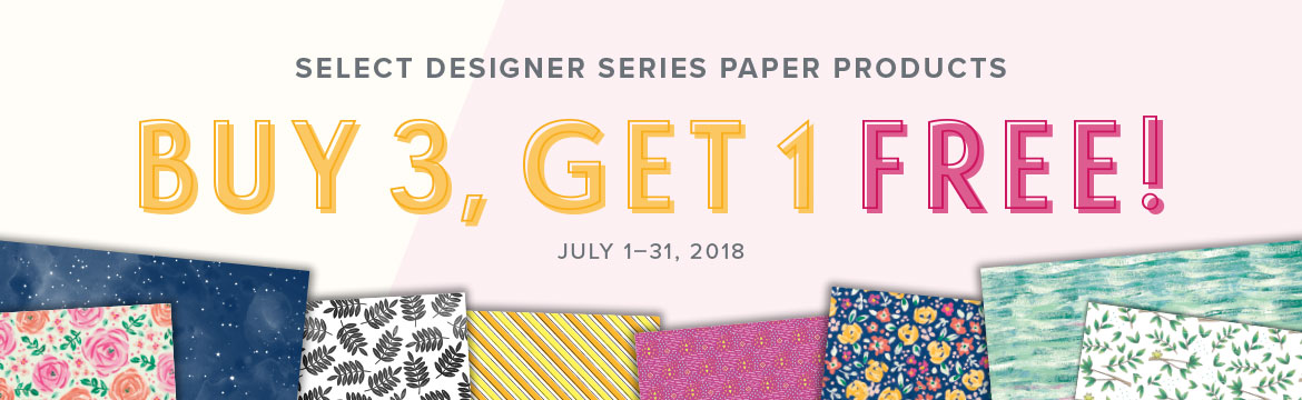 The special you've been waiting for . . . Buy 3, Get 1 FREE Designer Series Paper! Shop from a select list here: www.georgia.stampinup.net
