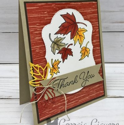 Blended Seasons Fall Thank You Card