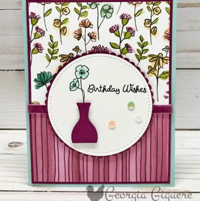 Varied Vases Birthday Wishes Card