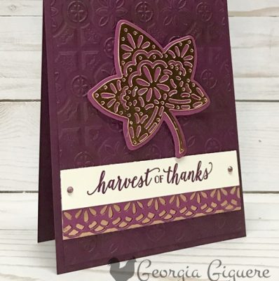 Falling For Leaves Fall Thank You Card