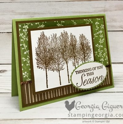 Winter Woods Fall Thinking of You Card
