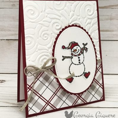 Spirited Snowmen Winter Card