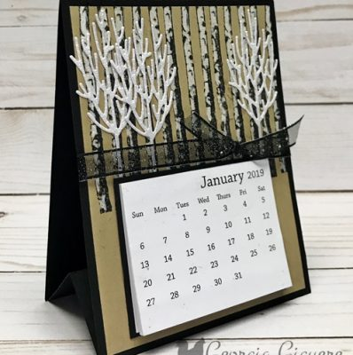 Winter Woods Desk Calendar